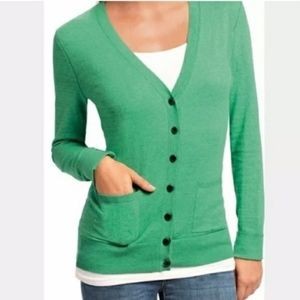 CAbi Ocean Green Billi Cardigan Sweater #697 sz S